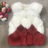 Vesta de blana Alice alb-bordo