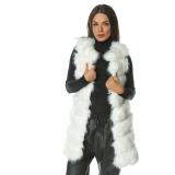 Vesta lunga de blana Elegance alba