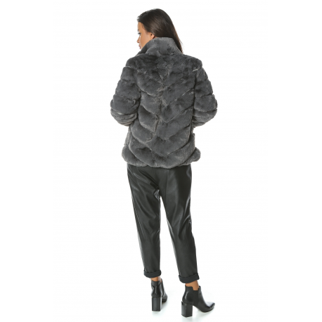 Jacheta de blana cu guler inalt Mirage